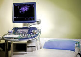Medical ultrasonography machine at hospital — Stock Photo