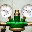 Manometer with reducer close-up - Stock Photo