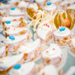 Delicious small cakes close-up — Stock Photo