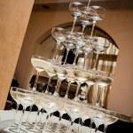 Champagne glass pyramid — Stock Photo #19808811
