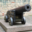 Old iron cannon. Riga, Latvia - Stock Photo