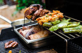 Meat on BBQ — Stock Photo