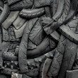 Background of old car tires - Stock Photo