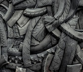 Background of old car tires — Stock Photo