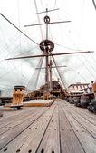 Detalhe do galeone navio neptune — Foto Stock