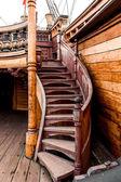 Detail der galeone neptun-schiff — Stockfoto