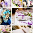 Wedding decorations collage - Stock Photo