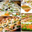 Collage of appetizers — Stock Photo
