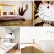 Collage of luxurious house interior - Stock Photo