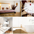 Collage of luxurious house interior - Stockfoto
