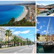Collage of Nice landmarks, France. - Stock Photo