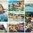 Collage of most famous landmarks in Italy — Stock Photo