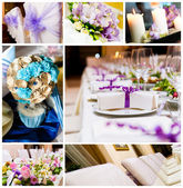 Bruiloft decoraties collage — Stockfoto