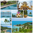 Collage of beautiful landscapes of Thailand - Stock Photo