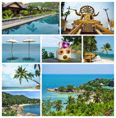 Collage of beautiful landscapes of Thailand — Stock Photo