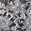 Floral tile pattern, white and black colors — Stock Photo