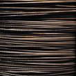 Steel wire rope background - Stock Photo