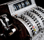 Antique cash register — Stockfoto
