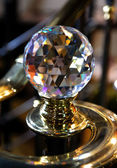 Big crystal ball, home decorative detail — Stock Photo