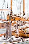 Yacht rigging — Stock Photo