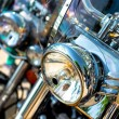 Motorcycle headlight — Stock Photo