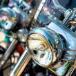 Motorcycle headlight — Stock Photo #24942685