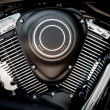 Motorcycle engine close-up — Stockfoto