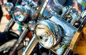 Motorcycle headlight — Stock Photo
