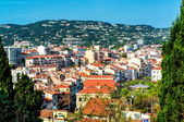 Panoramic aerial view of Cannes city, France — Stock Photo