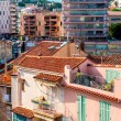 Panoramic view of living houses of Cannes city, France - Stock Photo