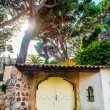 Old residential house facade. Cannes city, France - Stock Photo