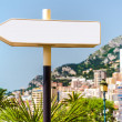 Signpost in Monaco - Stock Photo