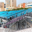 Stock Photo: Tribune mounting. Preparation to Formul1 Monaco Grand Prix
