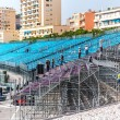 Tribune mounting. Preparation to Formula 1 Monaco Grand Prix - Stock Photo