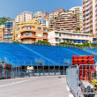 Tribune. Preparation to Formula 1 Monaco Grand Prix — Stock Photo