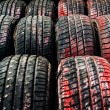 Old tires background — Stock Photo