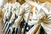 Wedding chairs at restaurant — Stock Photo