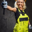 Attractive builder woman  — Stock Photo
