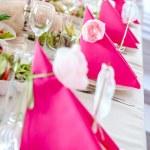Wedding Table Decorations — Stock Photo