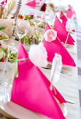 Wedding Table Decorations — Stock Photo