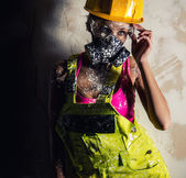 Female construction worker — Stock Photo