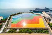 Colorful helipad in Monaco — Stock Photo