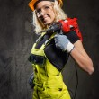 Attractive builder woman indoors — Stock Photo