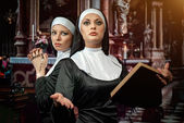 Nuns — Stock Photo