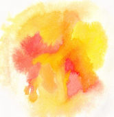 Watercolor painting. Yellow and red colors — Stock Photo