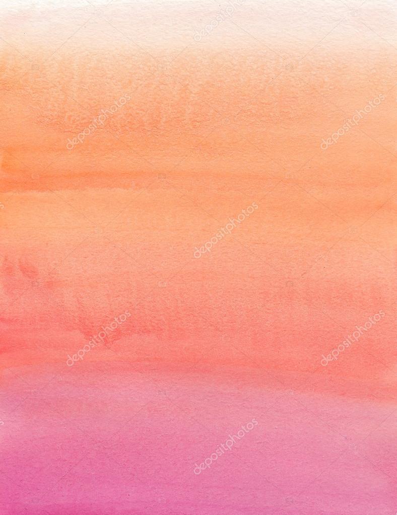 Peinture l 39 aquarelle beige d grad rose orange photographie amoklv 28074921 for Peinture beige rose
