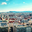 Panoramic view of Vienna city. Austria — Stock Photo