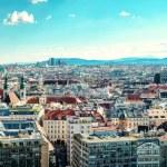 Panoramic view of Vienna city. Austria — Stock Photo