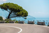 The road along the Amalfi Coast. Italy — Stock Photo