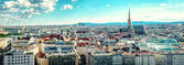 Panoramic view of Vienna city. Austria — Foto de Stock